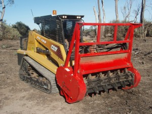 RC100 with Forestry Mulcher